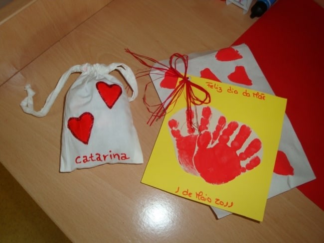 cartão criativo para educação infantil