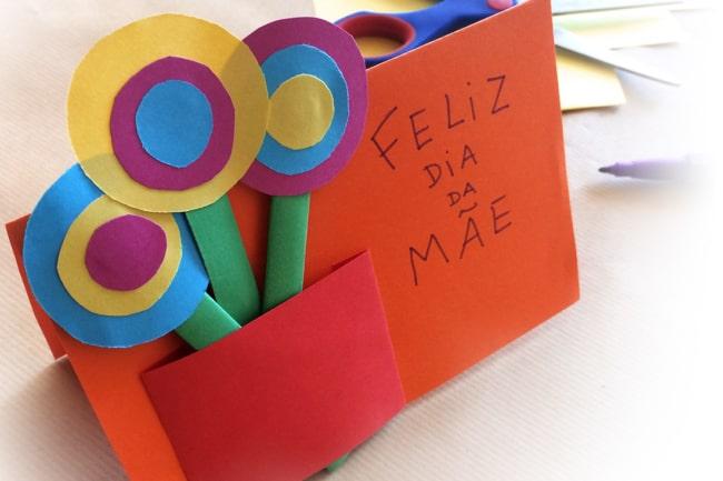 modelo de cartão infantil dia das mães
