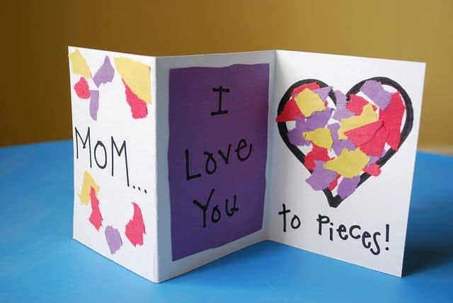 cartão para fazer com as crianças