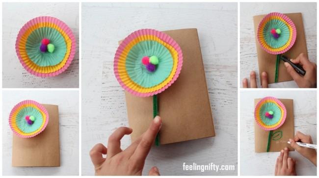 tutorial passo a passo cartão dia das mães