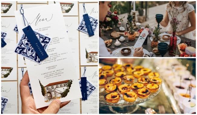 dicas de comidas e cardápio para casamento em Portugal