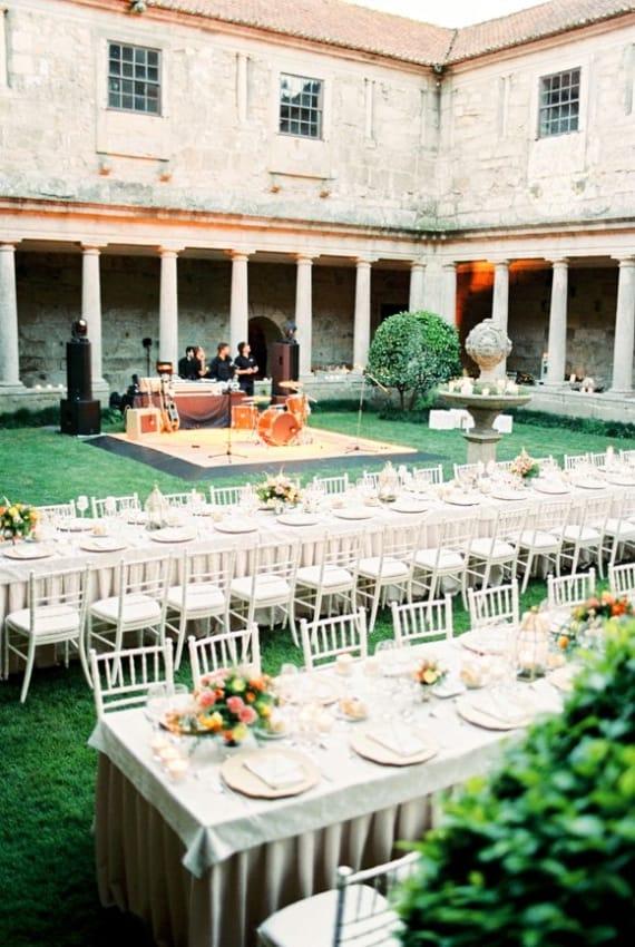 decoração de festa de casamento em Portugal