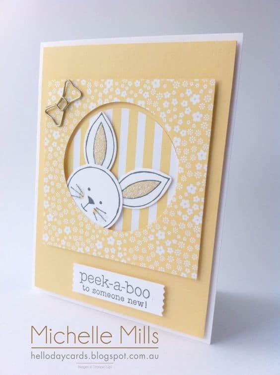 Cartão artesanal de Páscoa