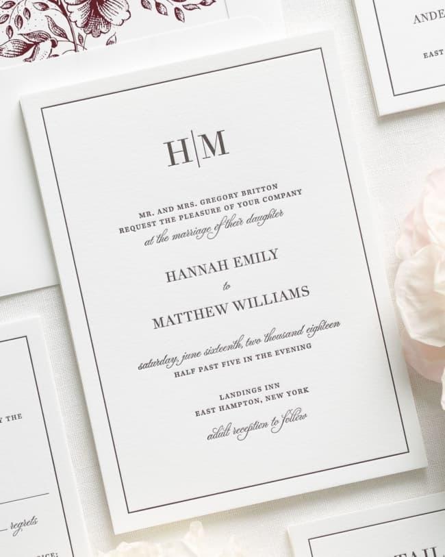Brasão de casamento em convites