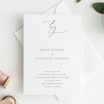Brasão de casamento nos convites