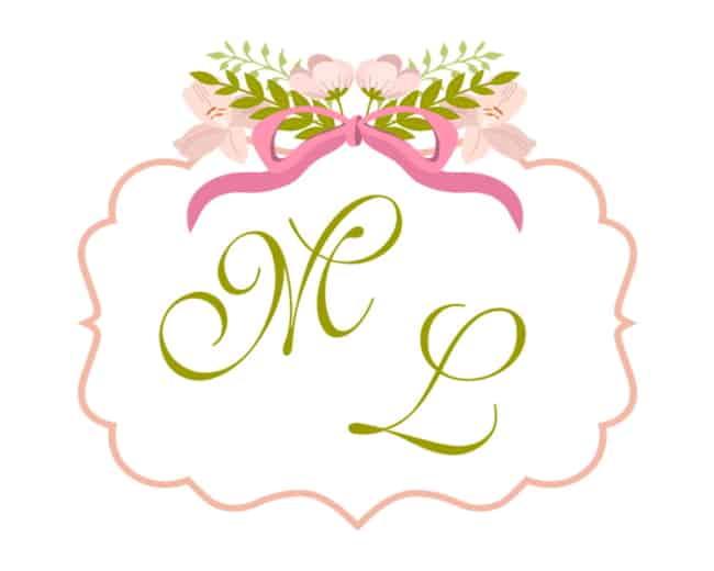 Brasão de casamento rosa