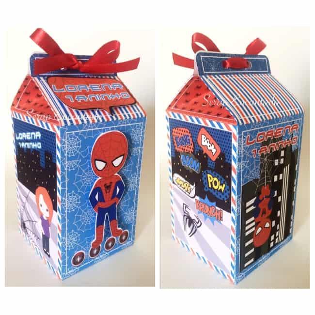 Caixa milk Homem Aranha atual