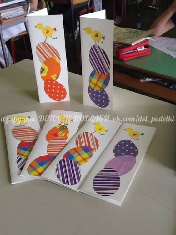 Cartão de páscoa artesanal colorido 1