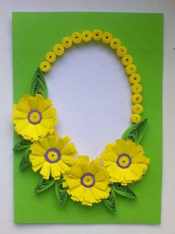 Cartão de páscoa artesanal super diferente com flores