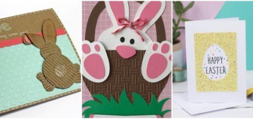 Cartões artesanais de Páscoa 1