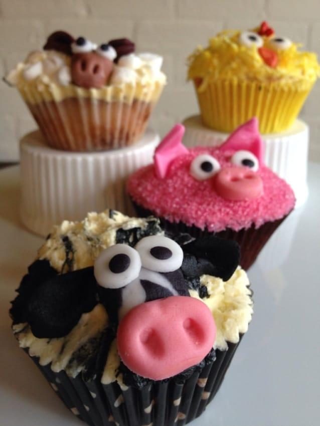 Cupcake fazendinha com animais