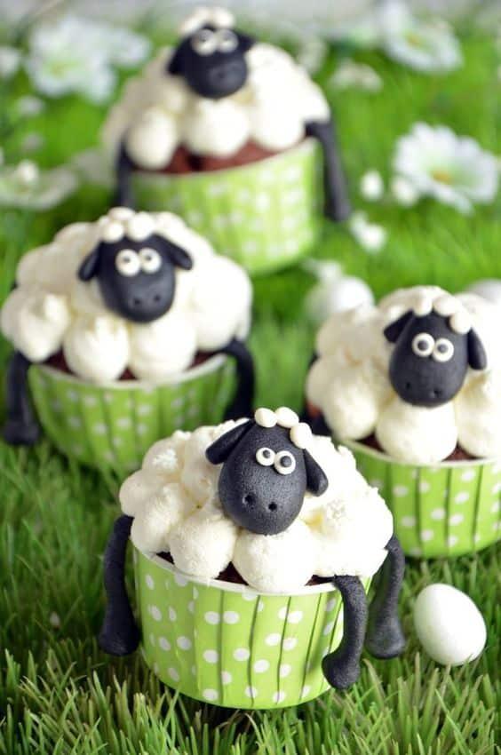 Cupcake fazendinha com ovelhinhas