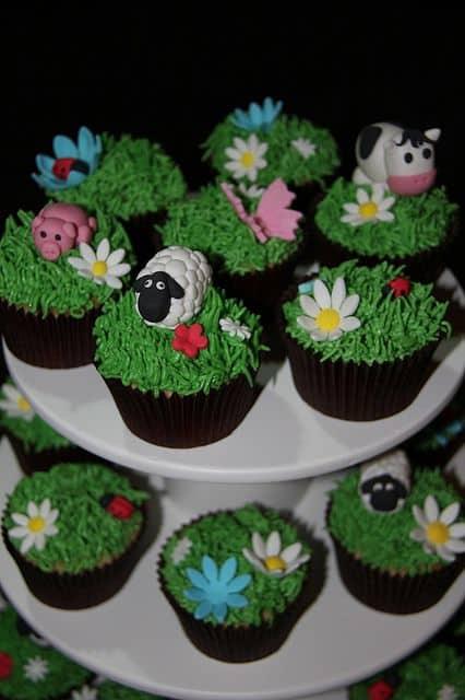Cupcake fazendinha para festa