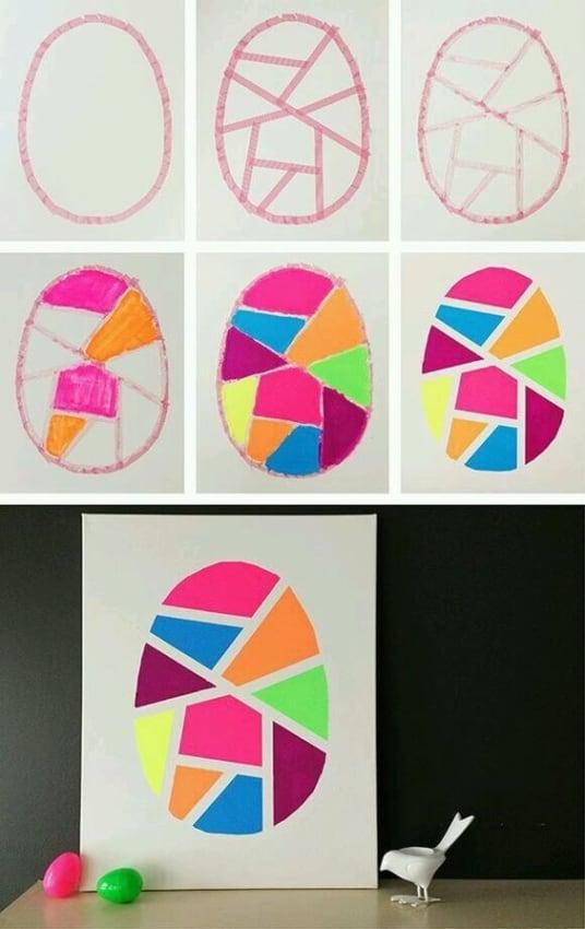 DIY de cartão artesanal de Páscoa