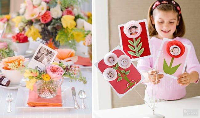 Decoração com fotos no dia das mães