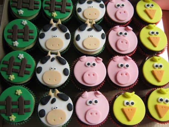 Dica de cupcake fazendinha para aniversário