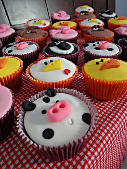 Dicas de cupcake fazendinha para aniversário
