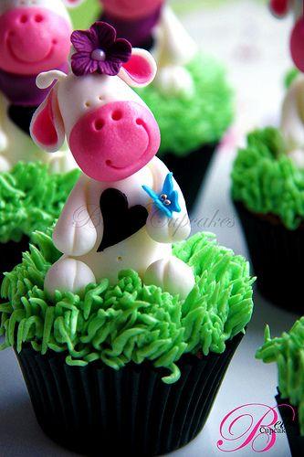 Forma de decorar cupcake de fazendinha