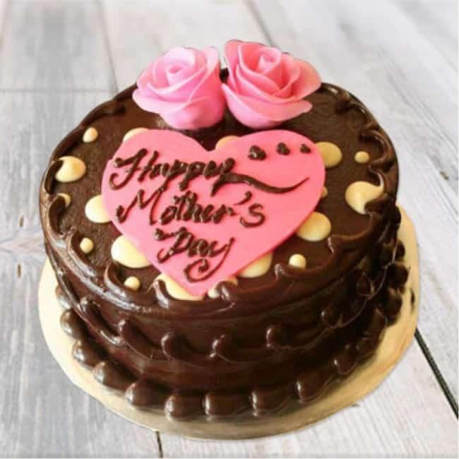 Homenagem para o dia das mães bolo de chocolate