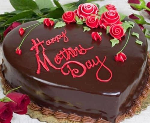 Homenagem para o dia das mães bolo decorado com rosas