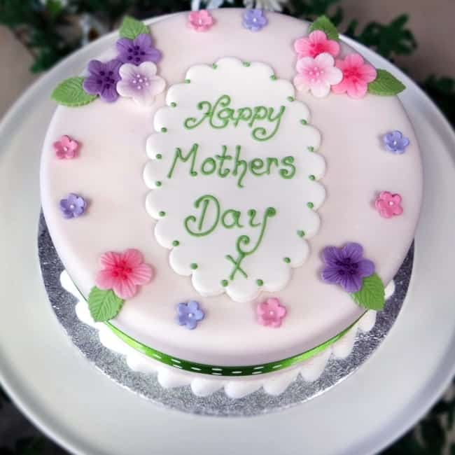 Homenagem para o dia das mães bolo decorativo