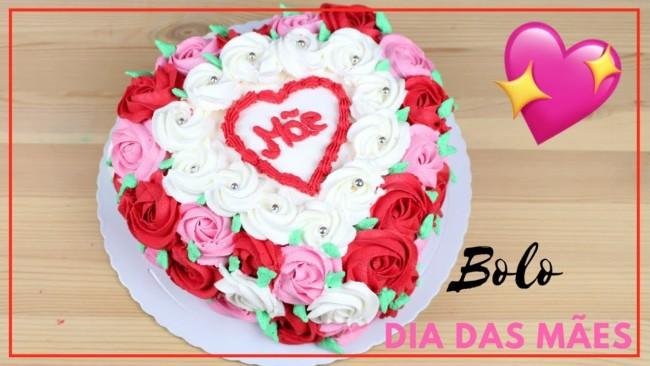 Homenagem para o dia das mães bolo