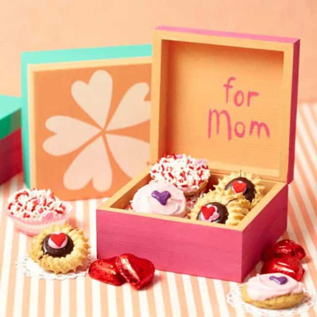 Homenagem para o dia das mães caixinha de doces