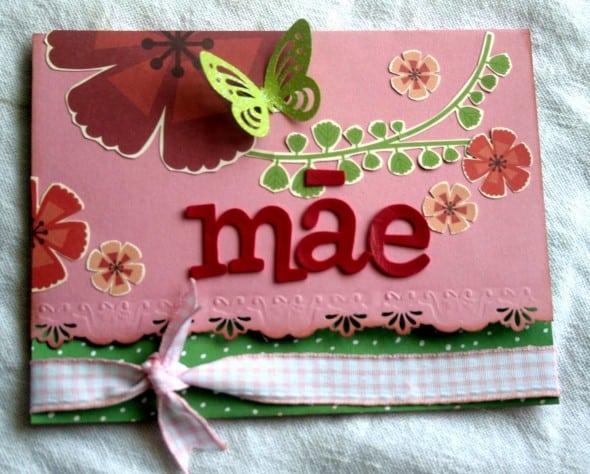 Homenagem para o dia das mães cartão artesanal