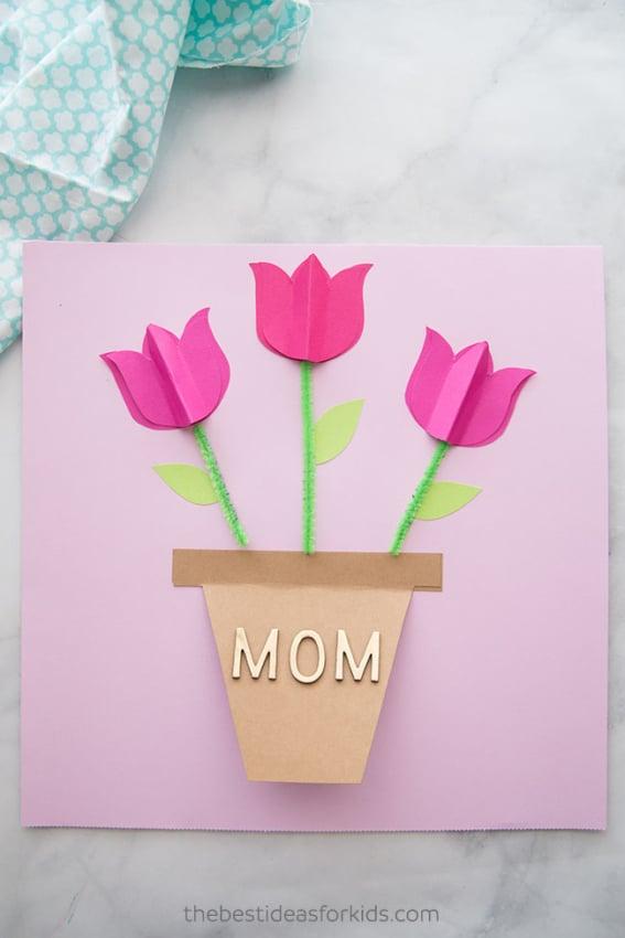 Homenagem para o dia das mães cartão de flor