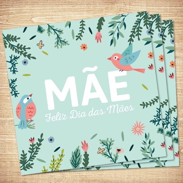 Homenagem para o dia das mães cartão de floresta