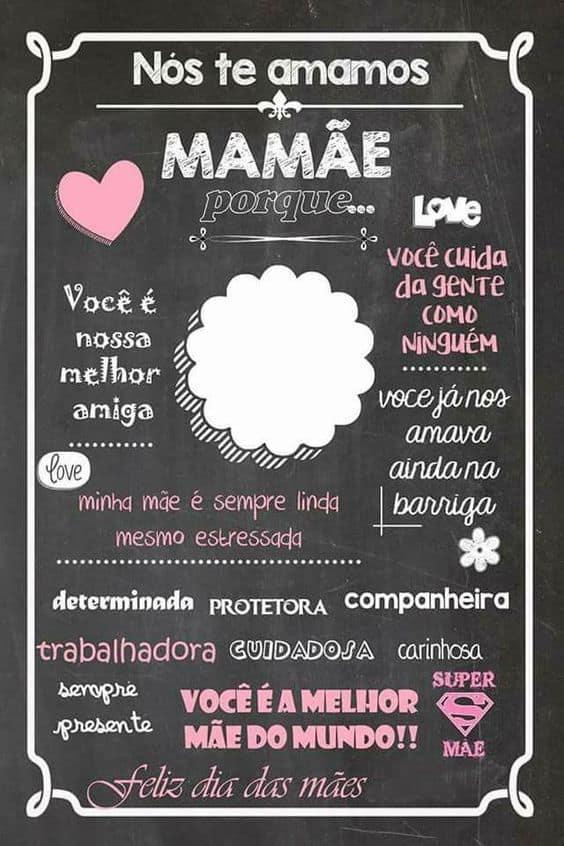 Homenagem para o dia das mães com frases
