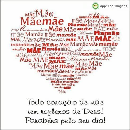 Homenagem para o dia das mães coração