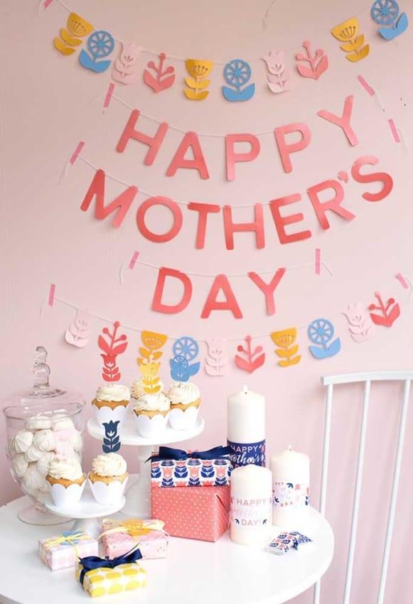 Homenagem para o dia das mães decoração com docinhos