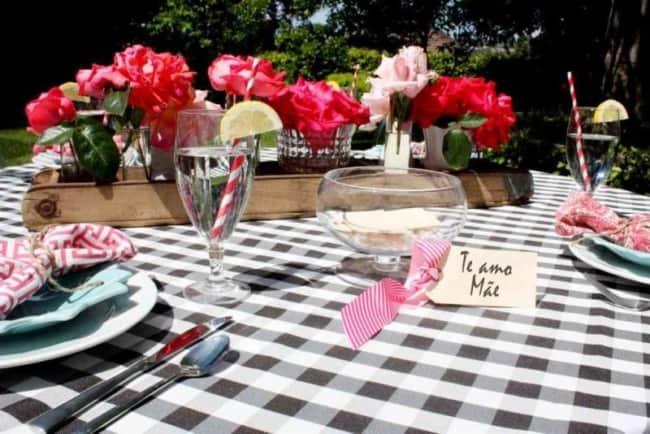 Homenagem para o dia das mães decoração para mesa