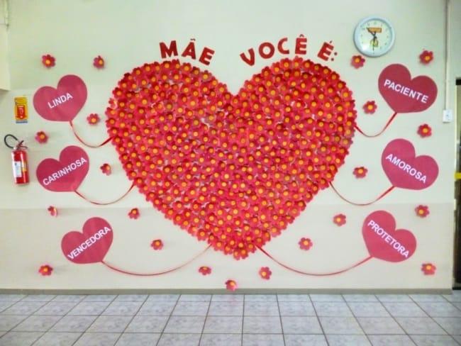 Homenagem para o dia das mães no muro