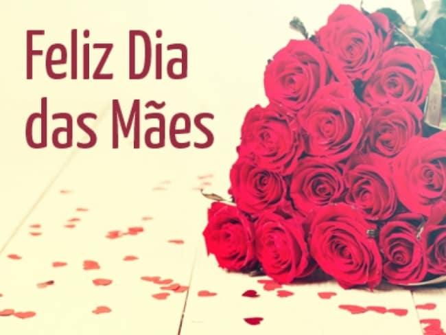 Homenagem para o dia das mães rosas