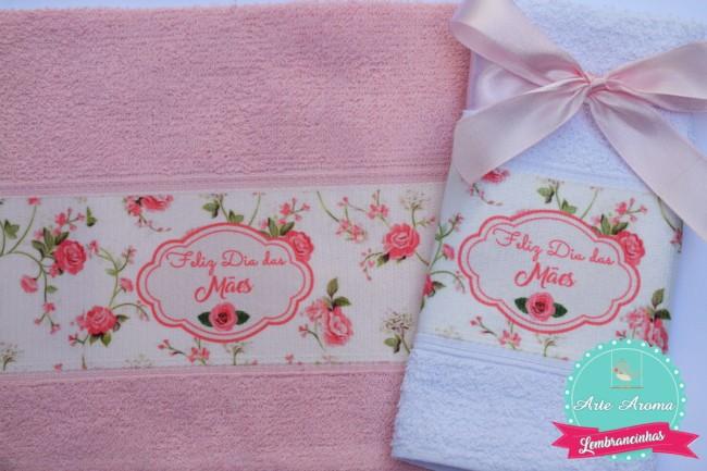 Homenagem para o dia das mães toalha