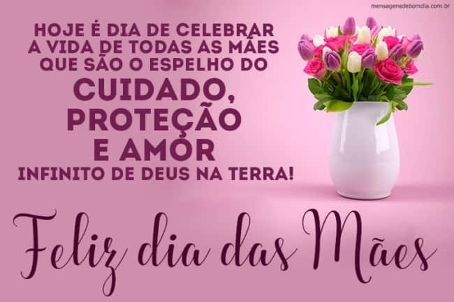 Homenagem para o dia das mães vaso de flores