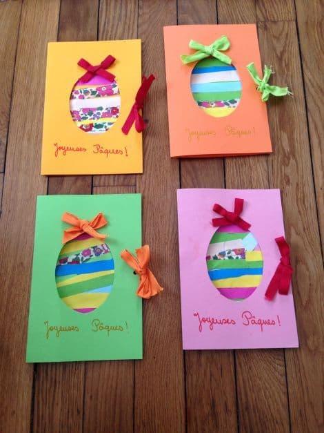 Ideias criativas de cartões de páscoa