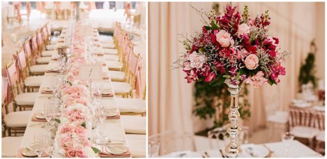 Ideias de decoração Rose para Casamento