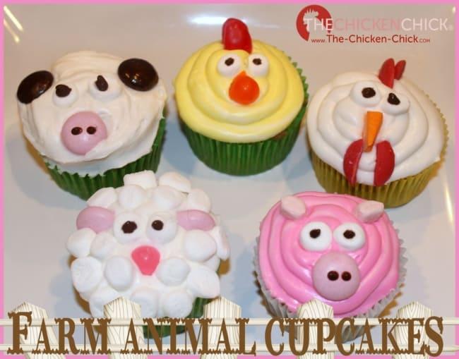 Jeito de fazer cupcake de fazendinha de animais