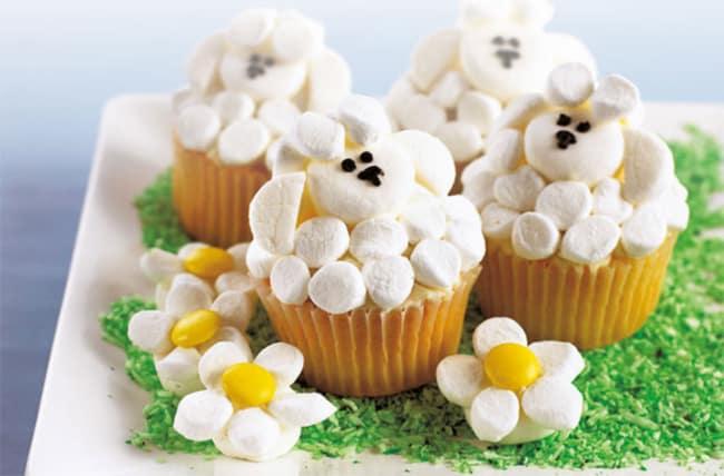 Jeito de fazer cupcake de fazendinha de ovelhinha
