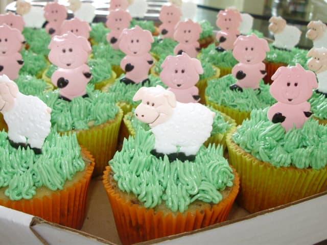 Jeito de fazer cupcake de fazendinha