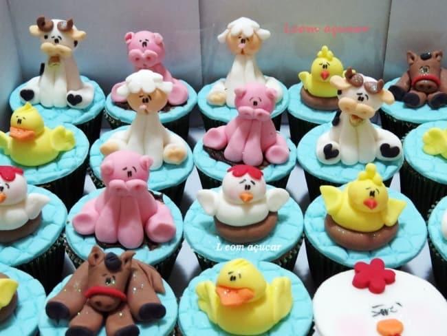 Mais um modelo de cupcake da fazendinha