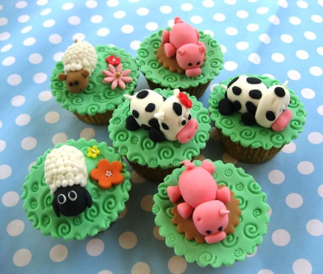 Maneira de fazer cupcake de fazendinha de animais