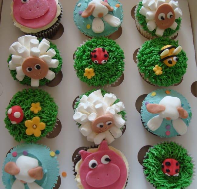 Maneira de fazer cupcake de fazendinha de bichinhos