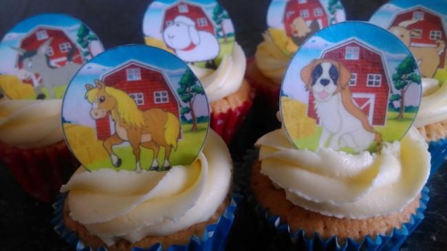 Maneira de fazer cupcake de fazendinha para sua festa