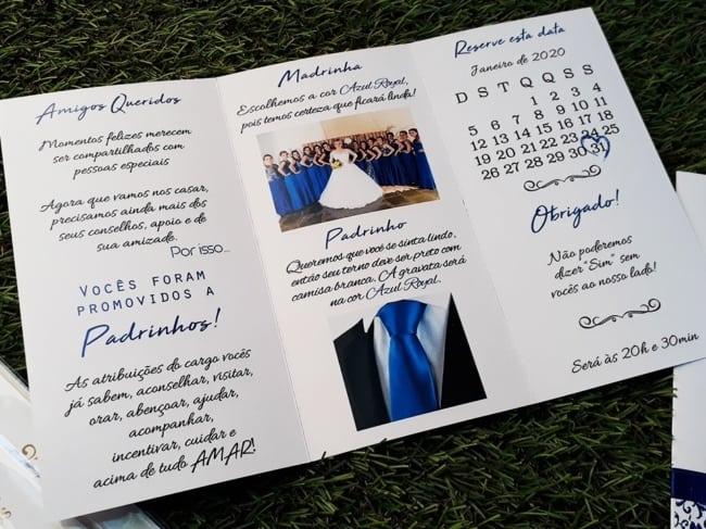 Manual dos padrinhos azul royal
