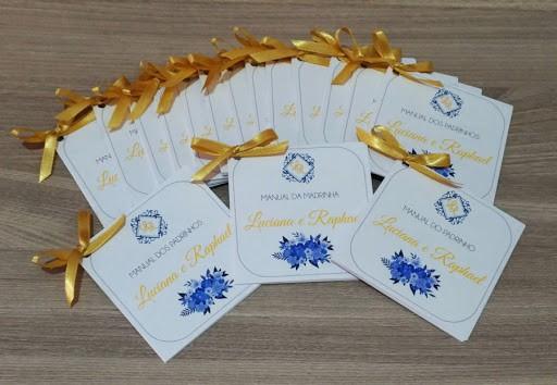 Manual dos padrinhos dourado e azul