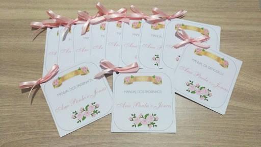 Manual dos padrinhos rosa claro